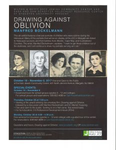 Drawing Against Oblivion-Film and Exhibit event @ Katz JCC | Margate City | New Jersey | United States
