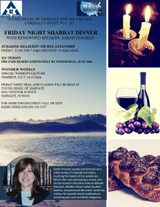Friday Night Shabbat Dinner @ Young Israel of Margate | Margate City | New Jersey | United States