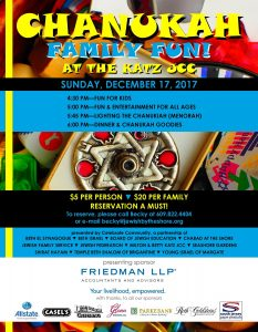 Chanukah Family Fun! @ Jewish Community Center, Auditorium | Margate City | New Jersey | United States