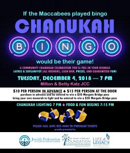 Community Chanukah Event @ Milton & Betty Katz JCC | Margate City | New Jersey | United States