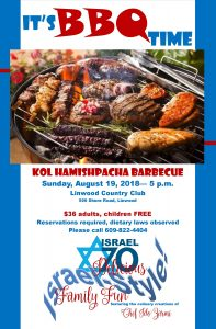 Kol Ha-Mishpacha Barbecue event @ Linwood Country Club | Linwood | New Jersey | United States