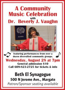 An Evening Honoring Dr. Beverly Vaughn @ Beth El Synagogue