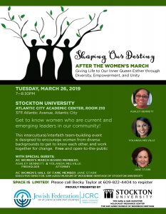 Shaping Our Destiny @ Stocton University, Atlantic City Academic Center, Room 210