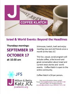 Coffee Klatch Political Discussion Group @ Jewish Community Center