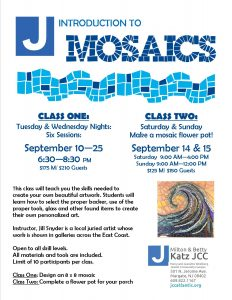 Mosaics - Class 2 @ Jewish Community Center
