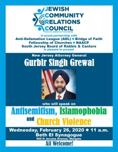 Antisemitism, Islamophobia and Church Violence @ Beth El Synagogue
