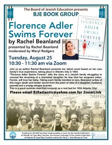 """Florence Adler Swims Forever"" Book Group @ ZOOM"