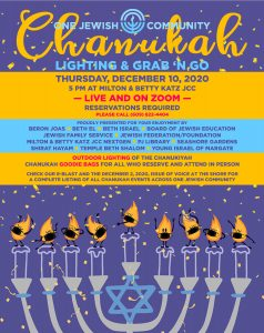 Community Chanukah Lighting @ JCC Parking lot / Zoom