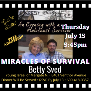 Miracles of Survival @ Young Israel