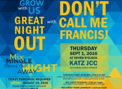 Campaign Kickoff with Don't Call Me Francis – Sept 1